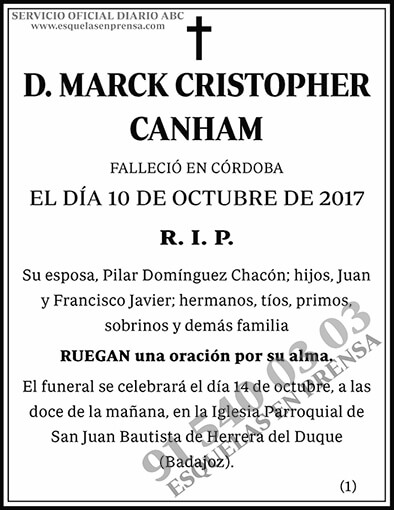 Marck Cristopher Canham